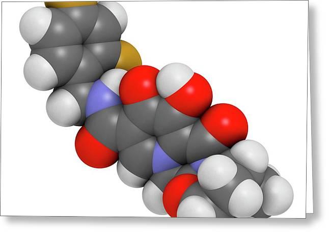 Dolutegravir Hiv Drug Molecule Greeting Card by Molekuul