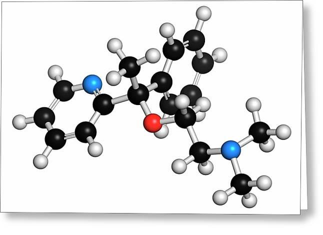 Doxylamine Antihistamine Drug Molecule Greeting Card by Molekuul