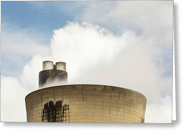 Drax Power Station In Yorkshire Greeting Card by Ashley Cooper