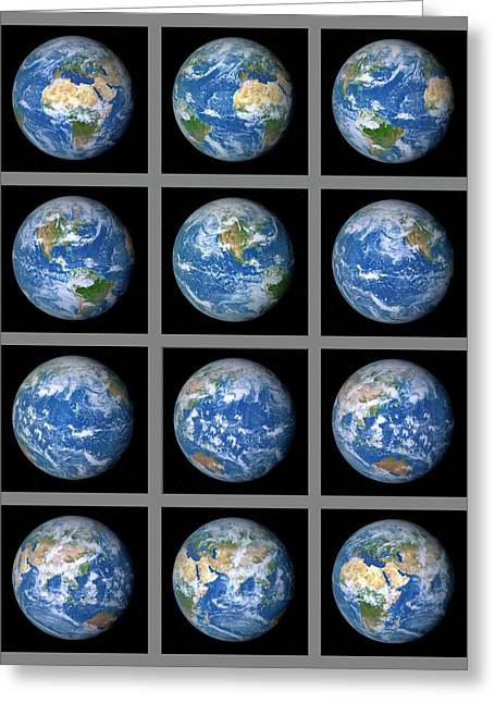 Earth's Rotation Greeting Card