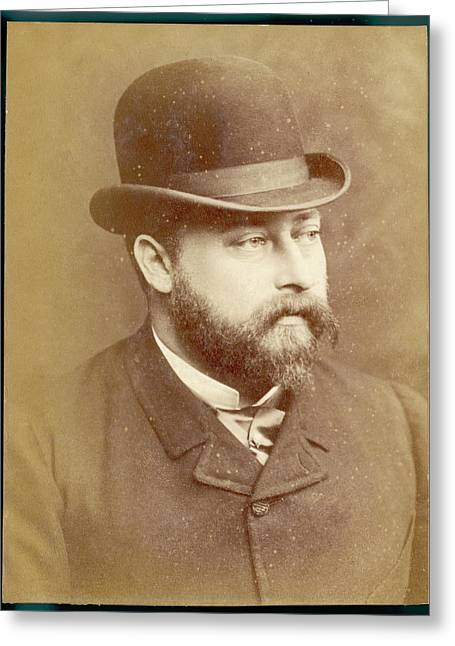 Edward Vii, British Royalty As Prince Greeting Card by Mary Evans Picture Library