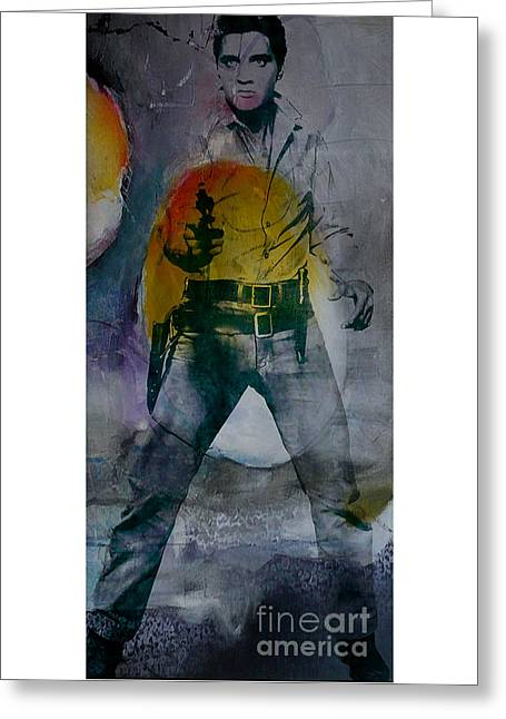 Elvis Greeting Card by Marvin Blaine