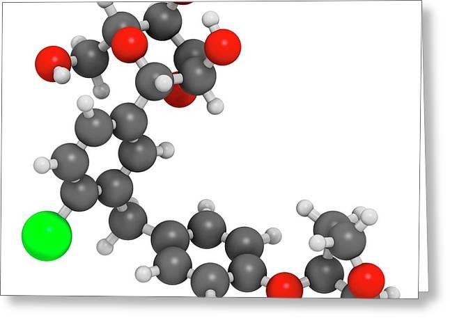 Empagliflozin Diabetes Drug Molecule Greeting Card by Molekuul