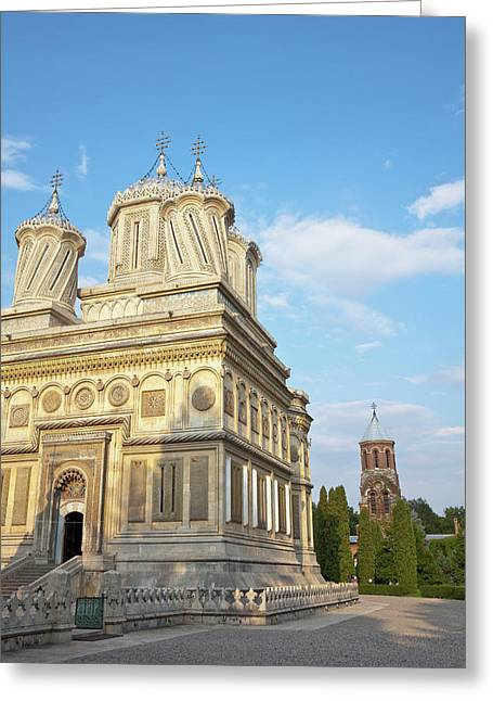Episcopal Cathedral Of Curtea De Arges Greeting Card by Martin Zwick