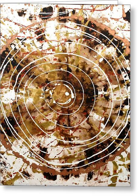 Eternal Circle Greeting Card by Baljit Chadha
