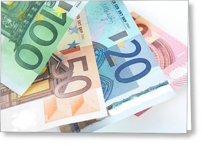 Euro Banknotes Greeting Card