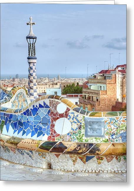 Europe, Spain, Catalonia, Barcelona Greeting Card by Rob Tilley