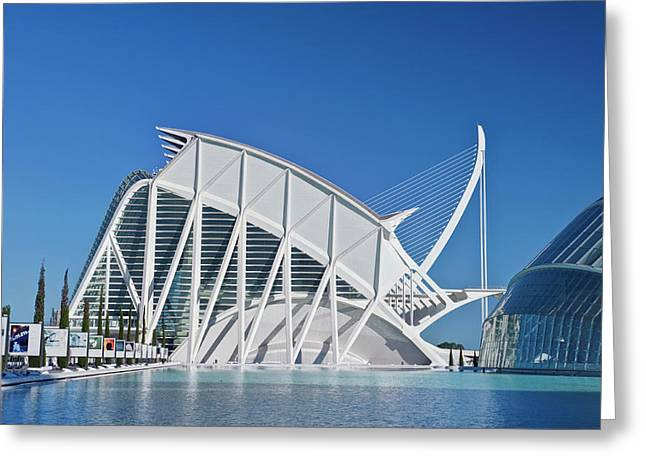 Europe, Spain, Valencia, City Of Arts Greeting Card