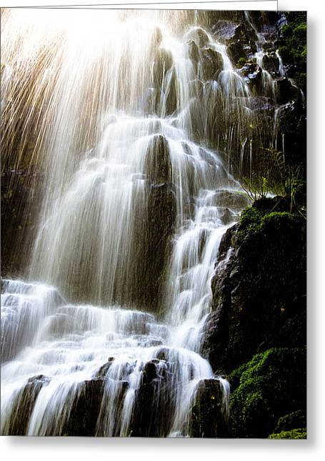 Fairy Falls Greeting Card by Patricia Babbitt