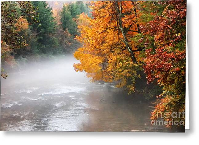 Fall Color Gauley River Greeting Card by Thomas R Fletcher