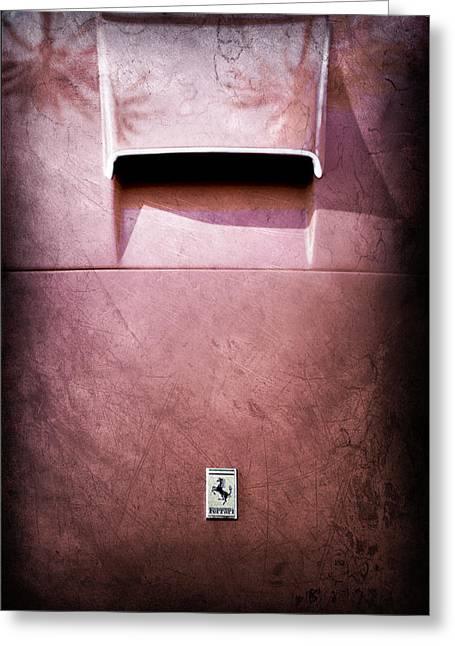 Ferrari Hood Emblem Greeting Card by Jill Reger