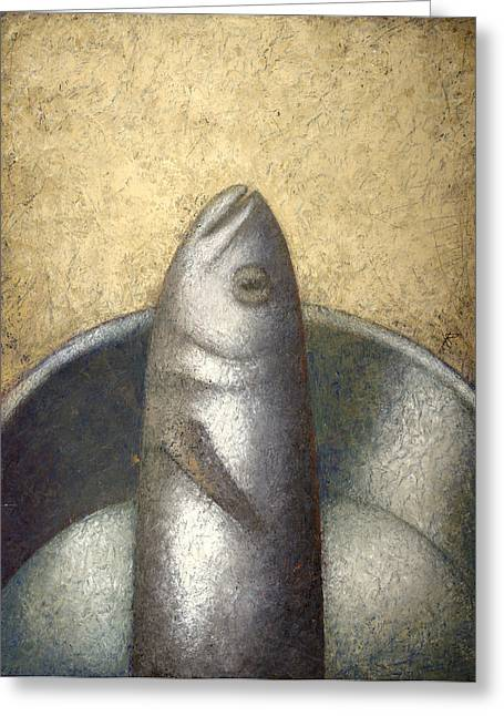 Fish Greeting Card by Nicolay  Reznichenko
