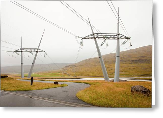 Fljotsdalur Hydro Power Station Greeting Card