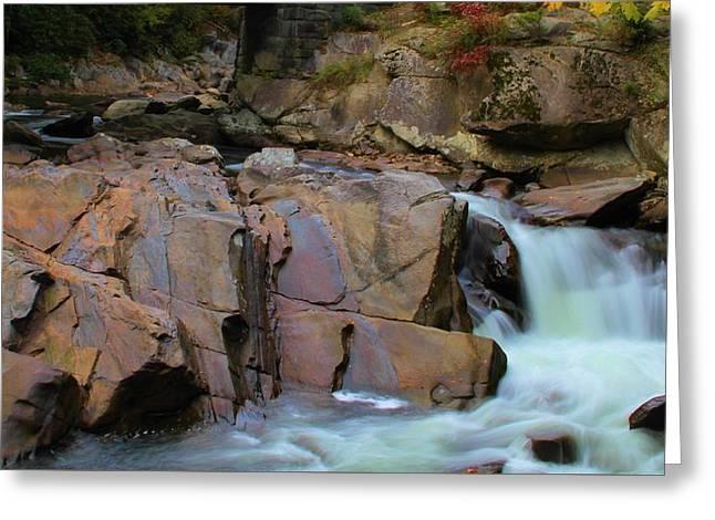 The Sinks Waterfall Meigs Falls Greeting Card
