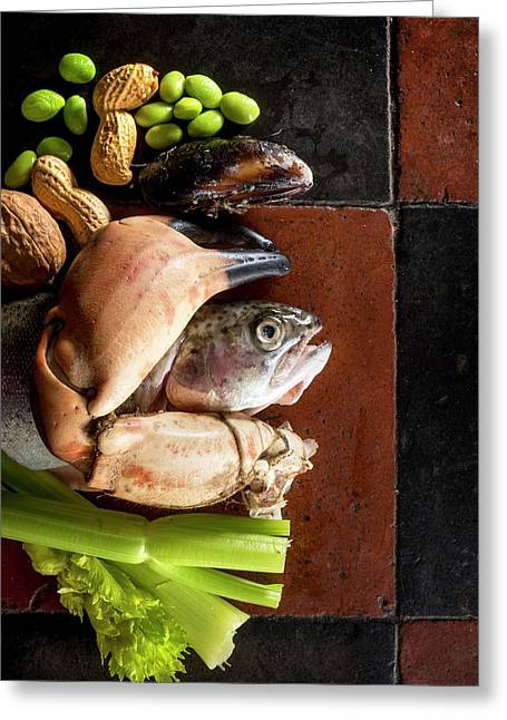 Foods That Can All Be Allergens Greeting Card