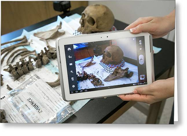 Forensic Scientist Identifying Remains Greeting Card