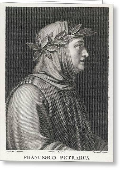 Francesco Petrarch  Italian Poet Greeting Card by Mary Evans Picture Library