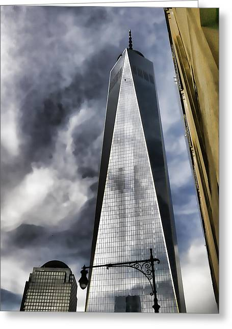 Freedom Tower Greeting Card by Allen Beatty