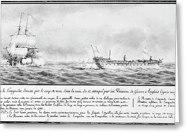 French Squadron, 1778 Greeting Card by Granger