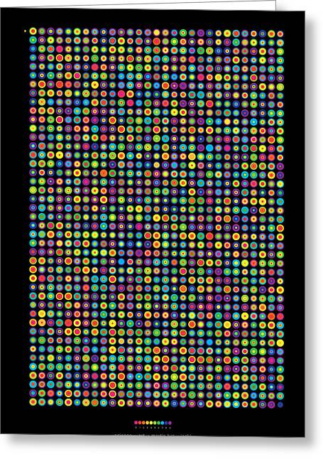 Frequency Distribution Of Digits In Pi Greeting Card by Martin Krzywinski