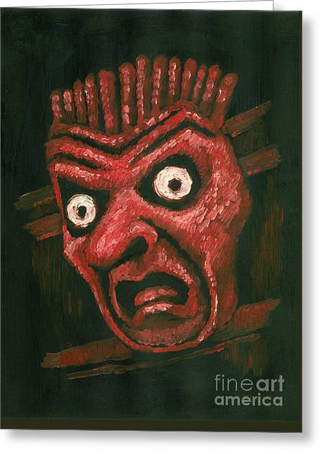Fright Greeting Card by Suzette Broad