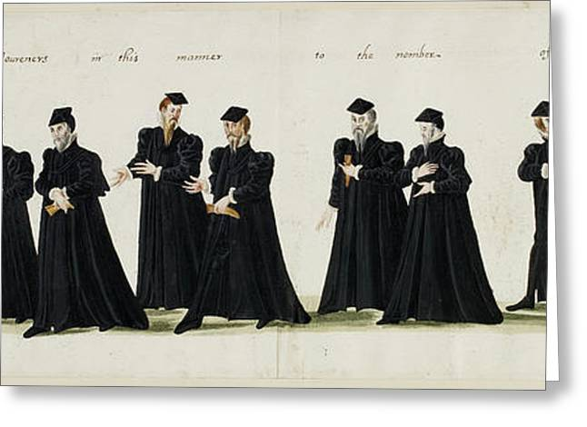 Funeral Processions Greeting Card by British Library