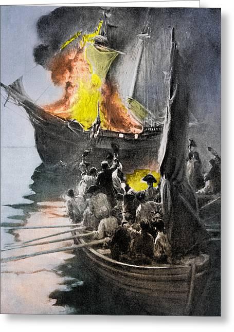 Gaspee Affair, 1772 Greeting Card