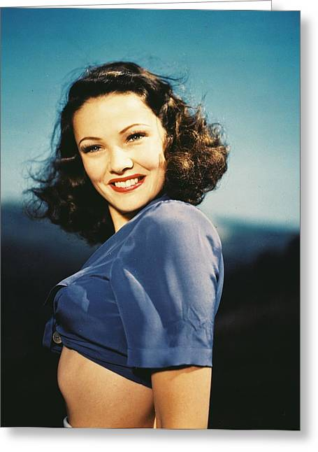 Gene Tierney Greeting Card by Silver Screen