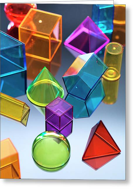 Geometric Shapes Greeting Card by Tek Image