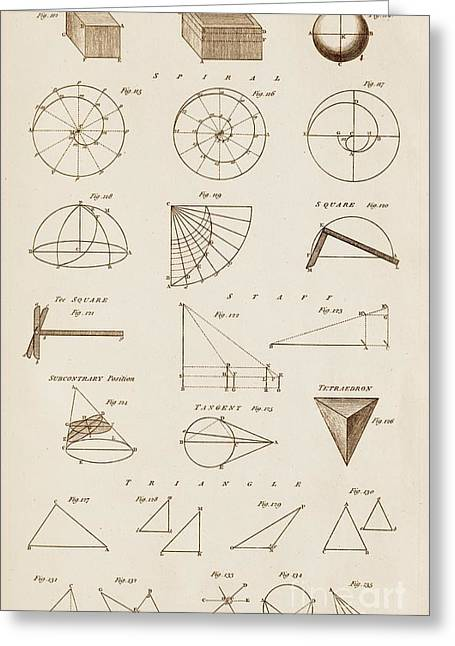 Geometrical Constructions And Principles Greeting Card