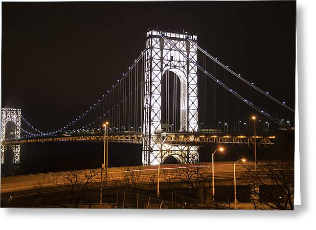 George Washington Bridge On President's Day Greeting Card