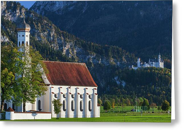 Germany, Bavaria, Hohenschwangau Greeting Card