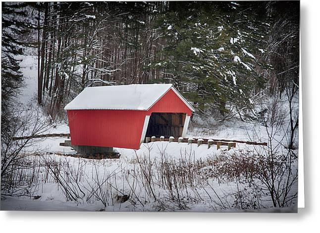 Gifford Covered Bridge In East Randolph Vermont Greeting Card