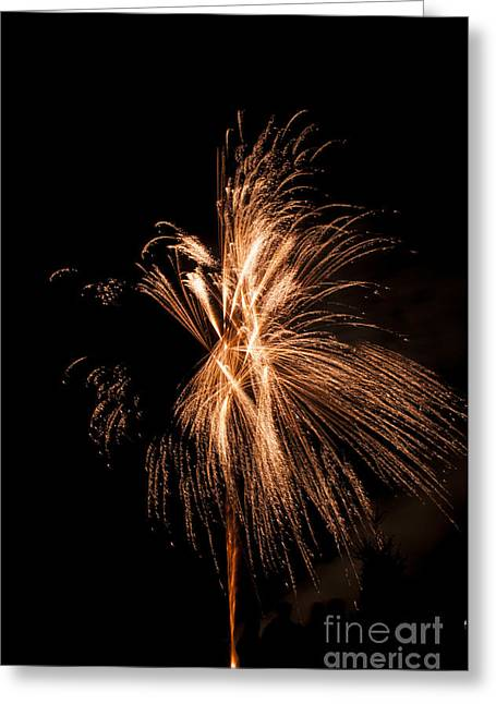 Gold Fireworks Greeting Card
