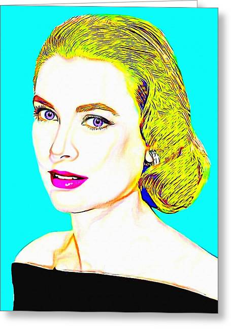 Grace Kelly Greeting Card by Art Cinema Gallery