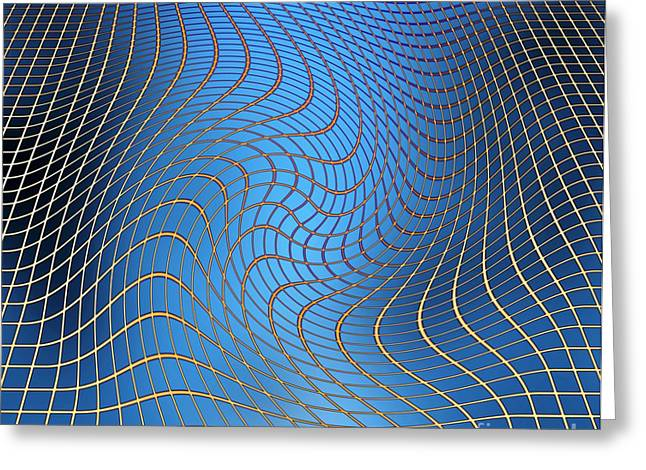 Gravity Waves In Space-time, Artwork Greeting Card