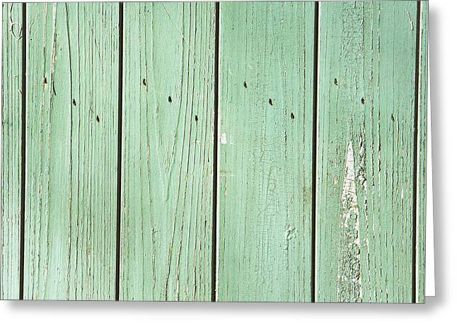 Green Wood Greeting Card
