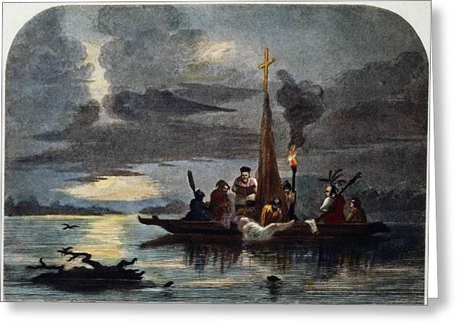 Hernando De Soto (c1500-1542) Greeting Card by Granger