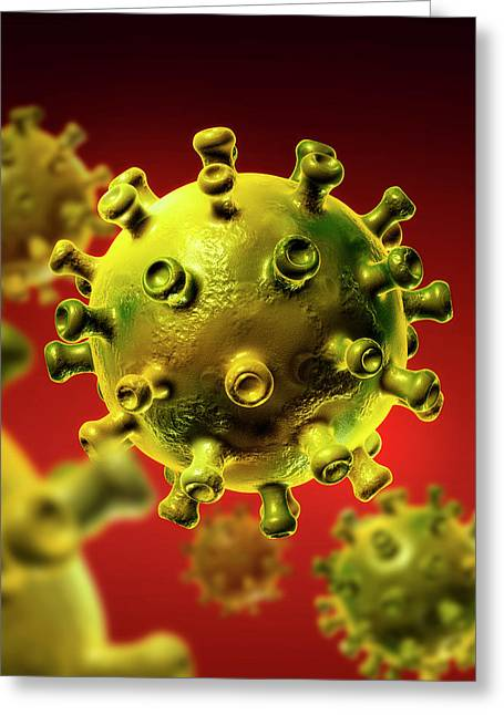 Hiv Particles Greeting Card