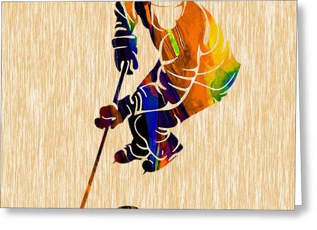 Hockey Greeting Card by Marvin Blaine