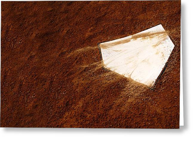 Home Plate Greeting Card by Lane Erickson