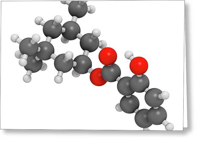 Homosalate Sunscreen Molecule Greeting Card