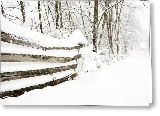 Hurricane Sandy Snow Greeting Card