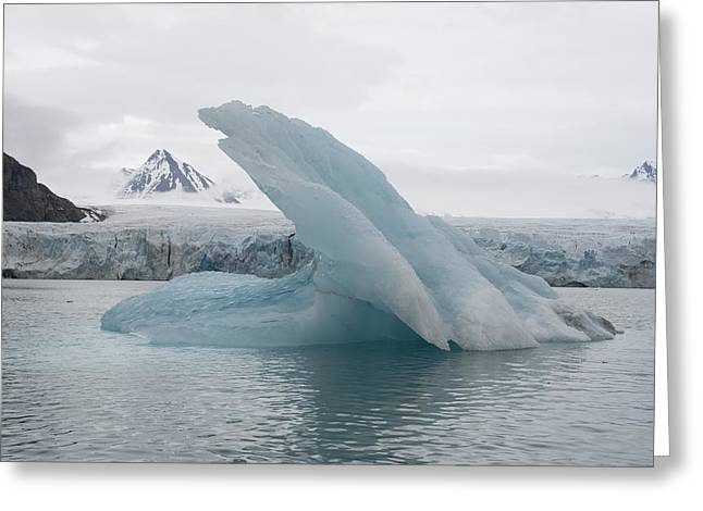 Iceberg, Norway Greeting Card by Science Photo Library
