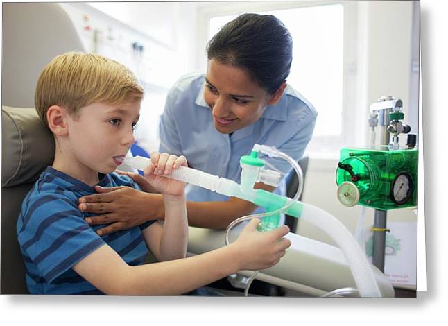 Ippb Therapy For Cystic Fibrosis Greeting Card