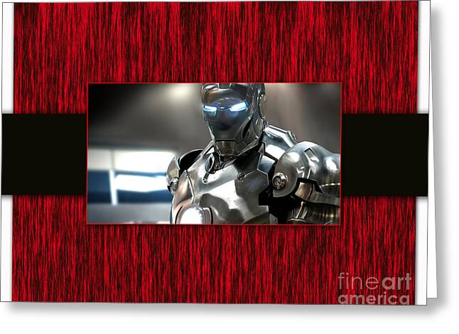 Iron Man Greeting Card by Marvin Blaine