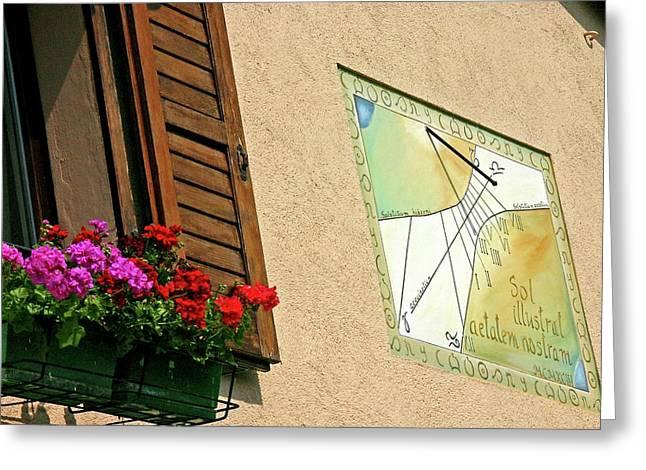 Italian Sundial Greeting Card by Babak Tafreshi/science Photo Library