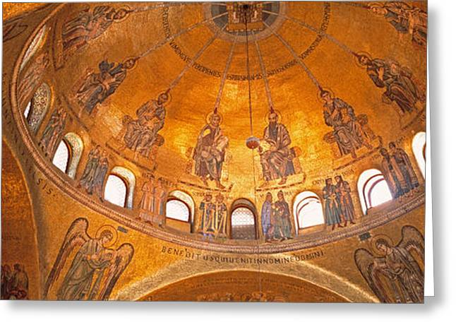 Italy, Venice, San Marcos Cathedral Greeting Card by Panoramic Images