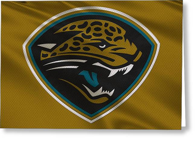 Jacksonville Jaguars Uniform Greeting Card by Joe Hamilton