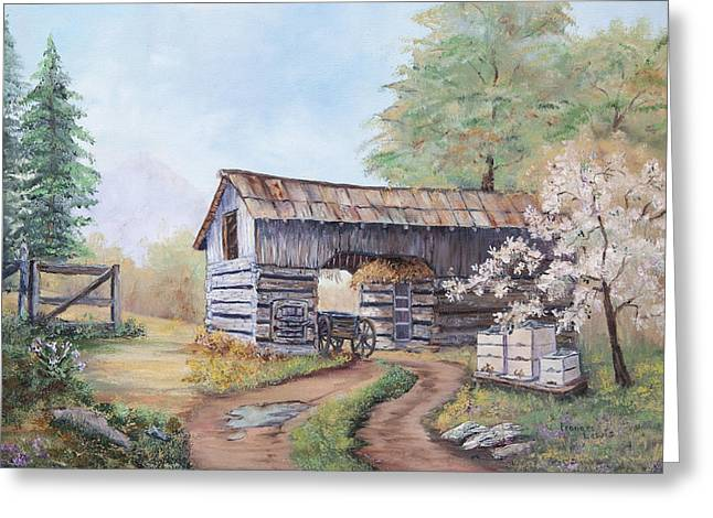 Barn At Cades Cove Greeting Card by Frances Lewis